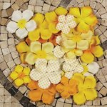 Prima - E Line - Flower Embellishments - Yellow Mix 1, CLEARANCE