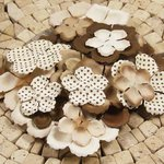 Prima - E Line - Flower Embellishments - Brown Mix 1