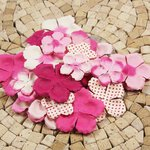 Prima - E Line - Flower Embellishments - Fuchsia Mix 1, CLEARANCE