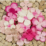 Prima - E Line - Flower Embellishments - Fuchsia Mix 3, CLEARANCE