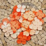 Prima - E Line - Flower Embellishments - Orange Mix 3, CLEARANCE