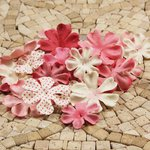 Prima - E Line - Flower Embellishments - Pink Mix 4