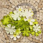 Prima - E Line - Flower Embellishments - Green Mix 4