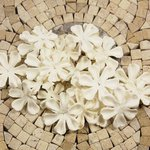 Prima - E Line - Flower Embellishments - White Mix 4, CLEARANCE