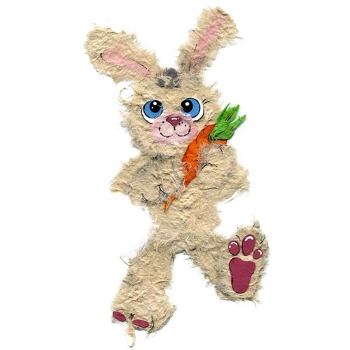 Prima - Little Darlings Collection - Handmade Animal Art - Bunny