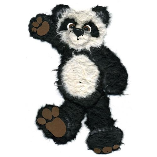Prima - Little Darlings Collection - Handmade Animal Art - Panda