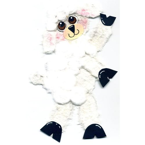 Prima - Little Darlings Collection - Handmade Animal Art - Lamb, CLEARANCE