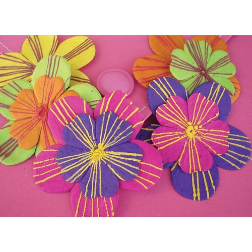 Prima - Scribbles Collection - Textured Flowers - Dance