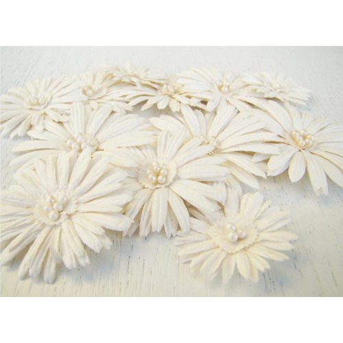 Prima - Daisy Dreams Collection - Flowers - Snow