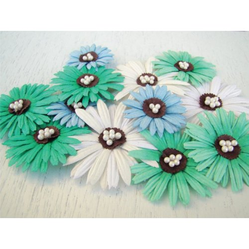 Prima - Daisy Dreams Collection - Flowers - Lagoon