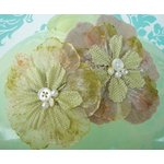 Prima - Bonnet Blooms Collection - Flowers - Kiwi, CLEARANCE