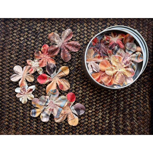 Prima - Artistry Flowers Collection - Flower Mini Tin - Petal