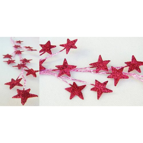 Prima - Galaxy Stars Collection - Glittered Star Vine - Red