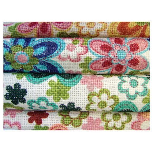 Prima - Burlap Sheets - Medium - Floral