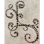 Prima - Say It In Pearls Collection - Self Adhesive Jewel Art - Bling - Corner - Burgundy, BRAND NEW