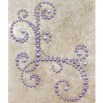 Prima - Say It In Pearls Collection - Self Adhesive Jewel Art - Bling - Corner - Lavender, BRAND NEW
