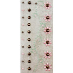 Prima - Say It In Pearls Collection - Self Adhesive Jewel Art - Bling - Border Strips - Brown and Pink, BRAND NEW