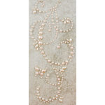 Prima - Say It In Pearls Collection - Self Adhesive Jewel Art - Bling - Butterfly Swirls - Cream, BRAND NEW