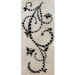 Prima - Say It In Pearls Collection - Self Adhesive Jewel Art - Bling - Butterfly Swirls - Black