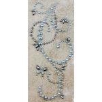 Prima - Say It In Pearls Collection - Self Adhesive Jewel Art - Bling - Butterfly Swirls - Blue