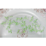 Prima - Say It In Pearls Collection - Self Adhesive Jewel Art - Bling - Leaf Swirls - Green, BRAND NEW