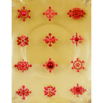 Prima - Say It In Pearls Collection - Self Adhesive Jewel Art - Bling - Flower Centers - Red, CLEARANCE