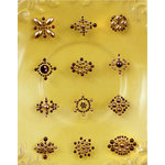 Prima - Say It In Pearls Collection - Self Adhesive Jewel Art - Bling - Flower Centers - Brown, CLEARANCE