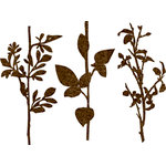 Prima - DeVines Collection - Self Adhesive - Die Cut Felt Art - Stems - Brown, BRAND NEW