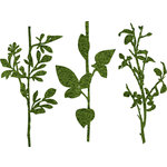 Prima - DeVines Collection - Self Adhesive - Die Cut Felt Art - Stems - Green, BRAND NEW