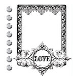 Prima - Clear Acrylic Stamps and Self Adhesive Jewels - Love