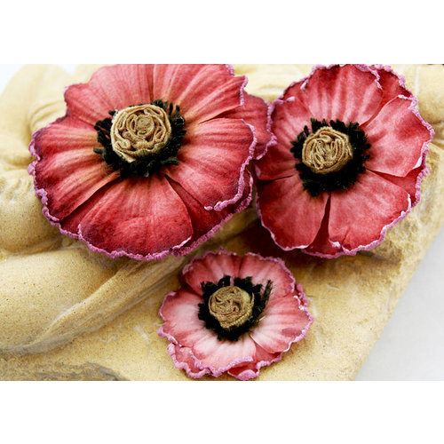 Prima - Parlor Petals Collection - Flower Embellishments - Dusty Rose