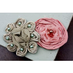 Prima - Romani Rose Collection - Flower Embellishments - Porcelaine, BRAND NEW