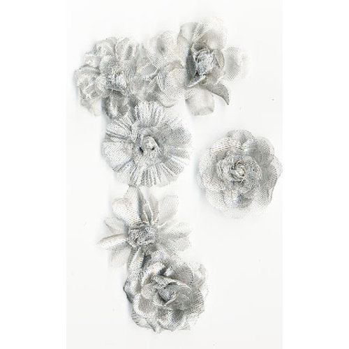 Prima - Tiffany Petals Collection - Flower Embellishments - Multi Platinum