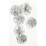Prima - Tiffany Petals Collection - Flower Embellishments - Multi Platinum