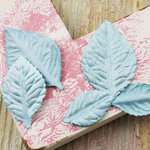 Prima - Heirloom Rose Collection - Velvet Leaves - Seabreeze
