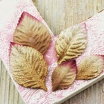 Prima - Heirloom Rose Collection - Velvet Leaves - Gold Dust