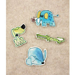 Prima - Art Stitched Charms Collection - Mulberry Embellishments - Animals, CLEARANCE