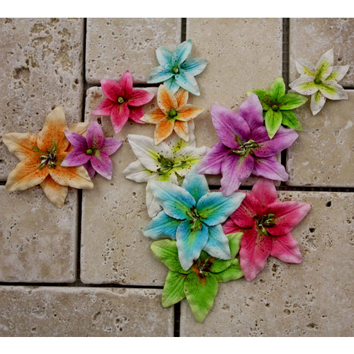 Prima - Evelyn Collection - Flower Embellishments - Lisle Multi