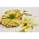 Prima - Painted Ladies Collection - Textured Flowers - Golden Gate, BRAND NEW