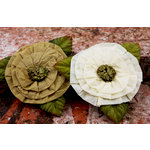 Prima - Fairyring Flowers Collection - Flower Embellishments - Antique Lace
