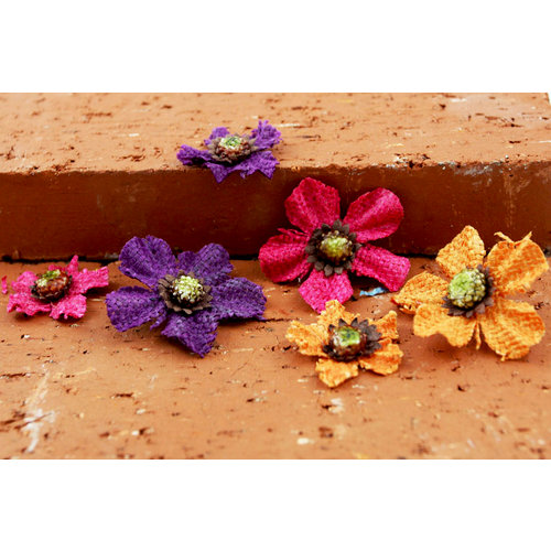 Prima - Homespun Bittles Collection - Assorted Flowers - Mix 2