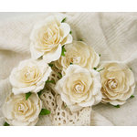 Prima - Trellis Roses Collection - Flower Embellishments - Ivory