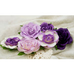 Prima - Trellis Roses Collection - Flower Embellishments - Purple Mist