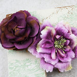 Prima - Baroque Blooms Collection - Flower Embellishments - Plum