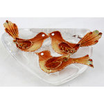 Prima - Holiday Lights Collection - Jeweled Bird Embellishments - Copper, CLEARANCE