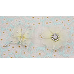 Prima - Gossamer Wings Collection - Jeweled Butterfly and Flower Embellishments - Crystal, CLEARANCE