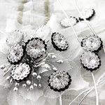 Prima - Sultan Collection - Bling - Flower Center Embellishments - Black