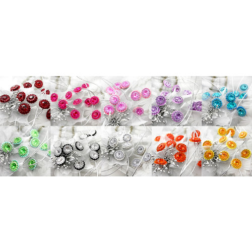 Prima - Sultan Collection - Bling - Flower Center Embellishments - Assorted