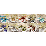 Prima - Raja Collection - Bling - Flower Center Embellishments - Assorted
