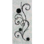 Prima - Say It In Pearls Collection - Self Adhesive Jewel Art - Bling - Fairy Dust with Flowers - Black, CLEARANCE